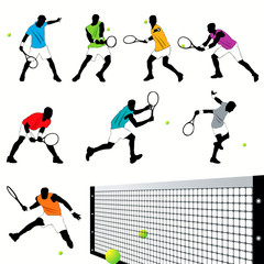 Tennis silhouettes set.03
