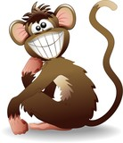 Scimmia Buffa Cartoon-Funny Monkey-Vector