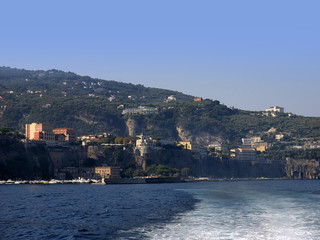 The Cliffs of Sorrento in Campania Southern Italy