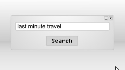 Searching for last minute travels