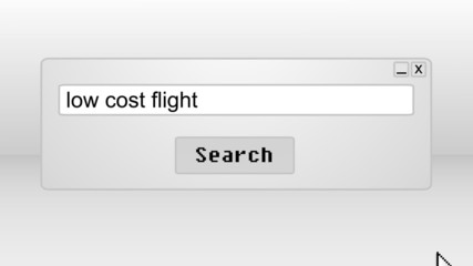 Searching for low cost flights