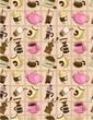 seamless cartoon coffee  pattern