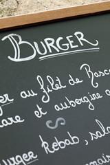 Ardoise : Burger