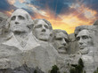 Sunset over Mount Rushmore, South Dakota, U.S.A. - 31815220