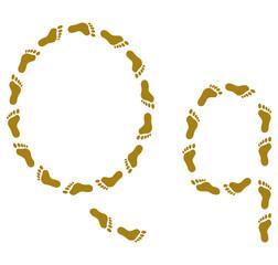 Traces, letter Q