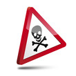 Señal 3D peligro muerte