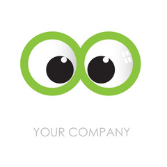 Logo Optical, curious glance # Vector
