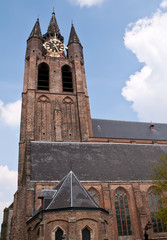Architectural details.The Old Church.Delft  .