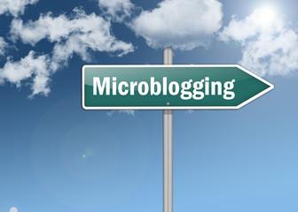 "Signpost ""Microblogging"""