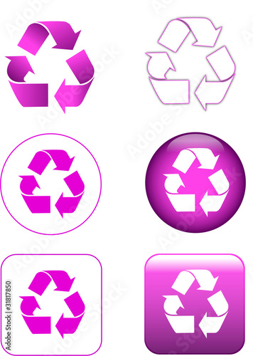 recycle set violet