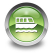 "Green Glossy Pictogram ""Boat Tour"""