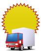 button icon truck versand frei für text blank