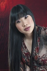 Asian Woman With Long Black Hair