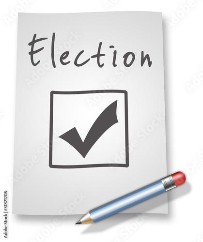 "Paper & Pencil Illustration ""Election"""