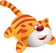 Toy cat . Cartoon