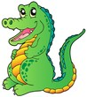 Cartoon standing crocodile