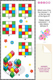 Find top view math visual puzzle poster