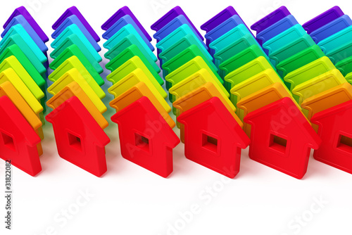 abstract group of houses