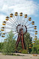 Abandoned ferris wheel in Pripyat, Chernobyl area