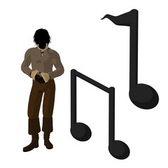 Ludwig Van Beethoven Illustration Silhouette