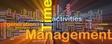 Time management background concept