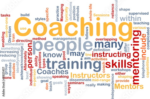 Coaching background concept