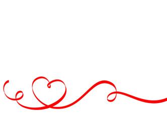 Herzförmiges Geschenkband