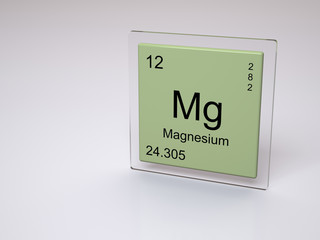 Magnesium - symbol Mg - chemical element of the periodic table