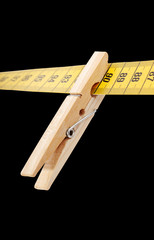 Clothespin and measuring tape.