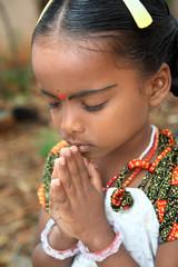 Indian Cute Girl Praying