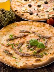 pizza napoli and capricciosa- pizza napoletana e capricciosa