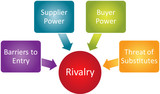 Competitive Rivalry business diagram poster