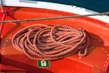 Closeup lifeboat