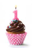 Fototapety First birthday cupcake