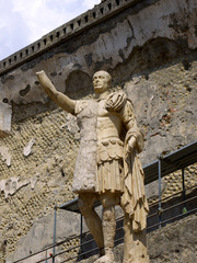 Statue in the ruined city of Herculaneum, Italy