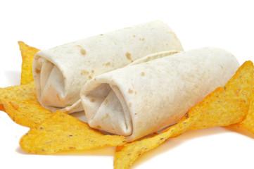 burritos and nachos