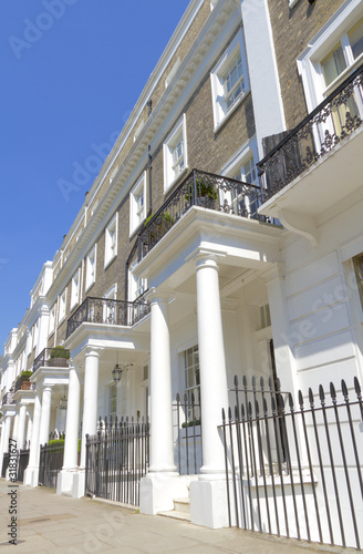 Typical housing in Kensington and Knightsbridge