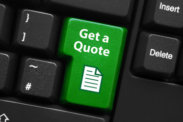 """""""GET A QUOTE"""" Key on Keyboard (prices free quotation now button)"""