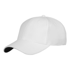 white cap with clipping path