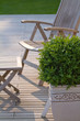 La terrasse et son fauteuil