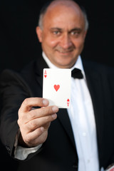 Magician show cards