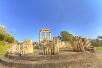 The tholos of the sanctuary of Athena Pronaia at Delphi