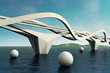 Futuristic bridge.