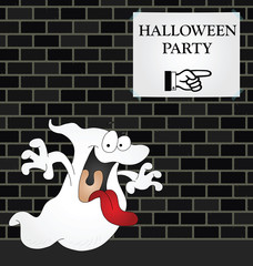 Ghost on his way to a Halloween Party