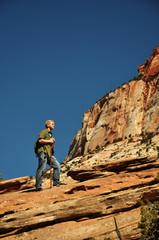 Teenage Boy Hiking in Zion