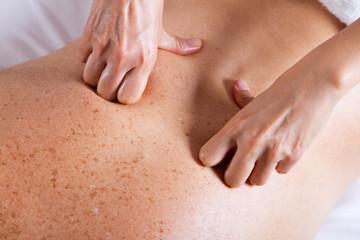 Massage male back