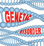 Genetic Disorder - Mutation in DNA Causes Disease poster