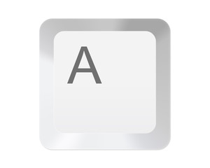 White computer key with letter