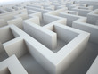 Maze close-up - complex problem solving concept