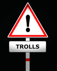 trolls warning sign